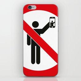 NO SELFIES | ممنوع التصوير الذاتي iPhone Skin