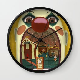 Creepy Circus Wall Clock