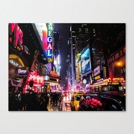 New York City Night Canvas Print