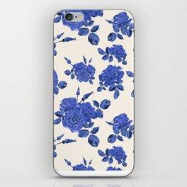 Seamless blue roses pattern iPhone Skin