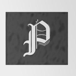 Letter P Throw Blanket