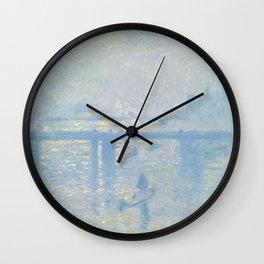 """Claude Monet """"Charing Cross Bridge"""" Wall Clock"""