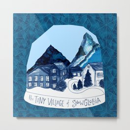 The Tiny Village of Snowglobia Metal Print
