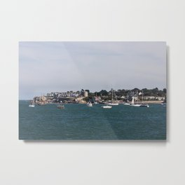 sailboats in the harbour at Dun Laoghaire, Dublin, Ireland Metal Print