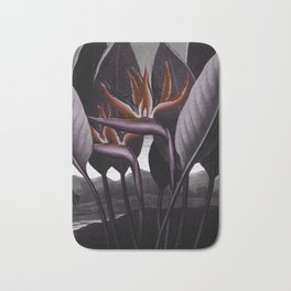Birds of Paradise : Temple of Flora Dark Bath Mat