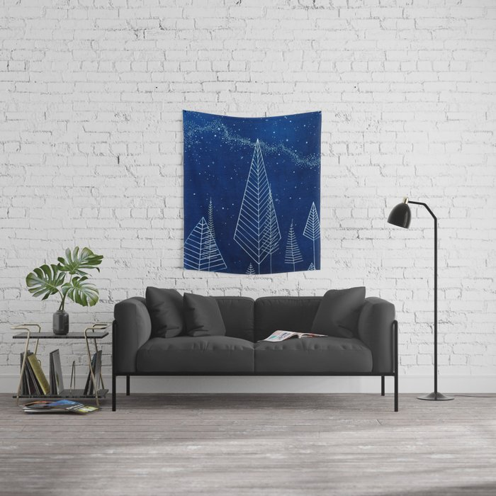 Celestial Trees Wall Tapestry