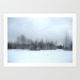 Escape in the Snow Art Print