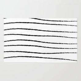 Hand Drawn Horizontal Stripes Rug