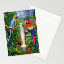 Macaw Tropical Parrots Stationery Cards
