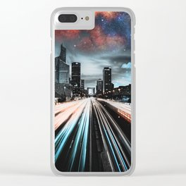 Lights and Stars Clear iPhone Case