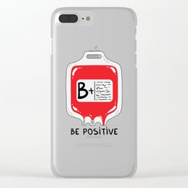 Be positive Clear iPhone Case