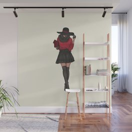 The Fashionista Fashion Illustration Wall Mural