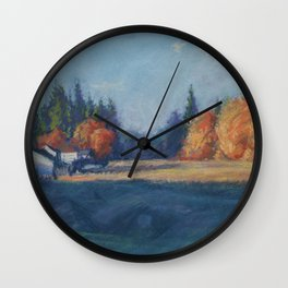 Autumnal Changes Wall Clock