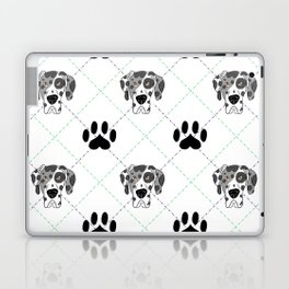 Merle Great Dane Paw Print Pattern Laptop & iPad Skin
