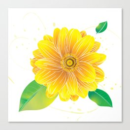 Helianthus - The Color of Vitality, Intelligence and Happiness Canvas Print