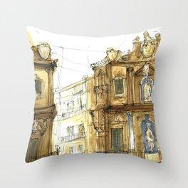 Old Palermo Throw Pillow