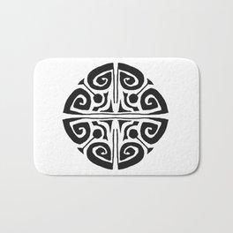 Tatouage Rond - round tatoo mandala - 3 Bath Mat