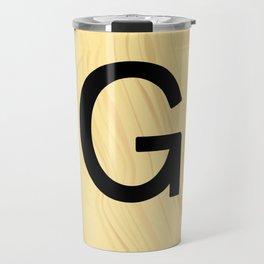 Scrabble G Decor, Scrabble Art, Large Scrabble Prints, Word Art, Accessories, Apparel, Home Decor Travel Mug