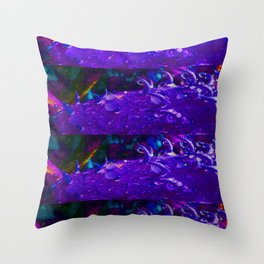 Psychedelic Raindrops Throw Pillow