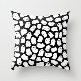 Spooky Kawaii Ghosts Throw Pillow