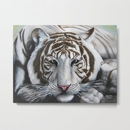 White Tiger Metal Print
