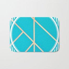 Leaf - circle/line graphic Bath Mat