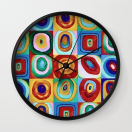 Colorful circles tile Wall Clock