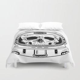 space  skull Duvet Cover