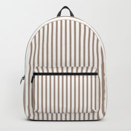 Warm Taupe Stripes Backpack