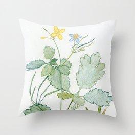 Summer celandine Throw Pillow