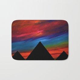 Fire Sky - Pyramids Silhouette Bath Mat