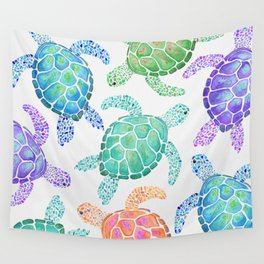 Sea Turtle - Colour Wall Tapestry