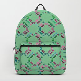 Triangle Circles Green Backpack