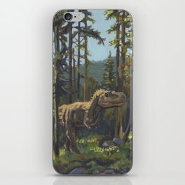 HUNT, T.rex dinosaur painting by Frank-Joseph iPhone Skin