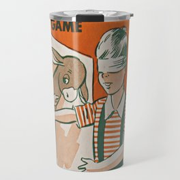pin the tail on the donkey vintage game Travel Mug