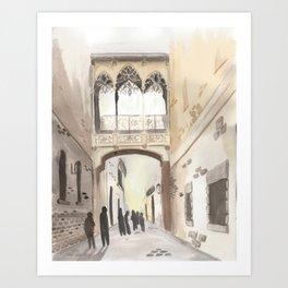 Ghosts of Barcelona Art Print