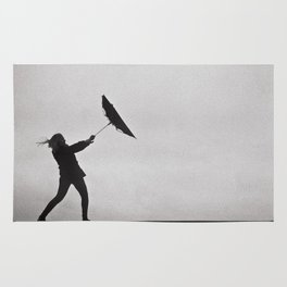 Through Thick & Thin - fine art black and white film photography grain Rug