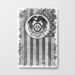 Faith Hope Liberty & Freedom Eagle on US flag Metal Print