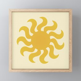 Knitted sun Framed Mini Art Print