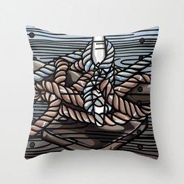 Knotical Throw Pillow