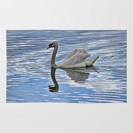 Proud mute swan Rug