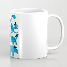 Blue Animals Black Hats Coffee Mug
