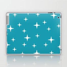 Mid Century Modern Star Pattern 443 Turquoise Laptop & iPad Skin