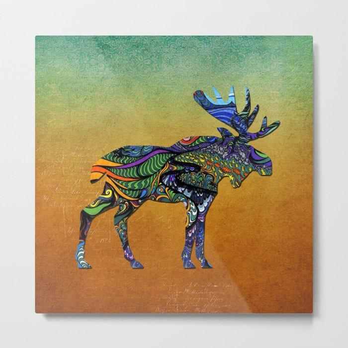 Designer Moose * Metal Print
