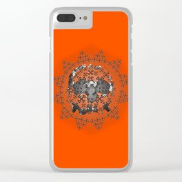 Skull and Crossbones Medallion Clear iPhone Case