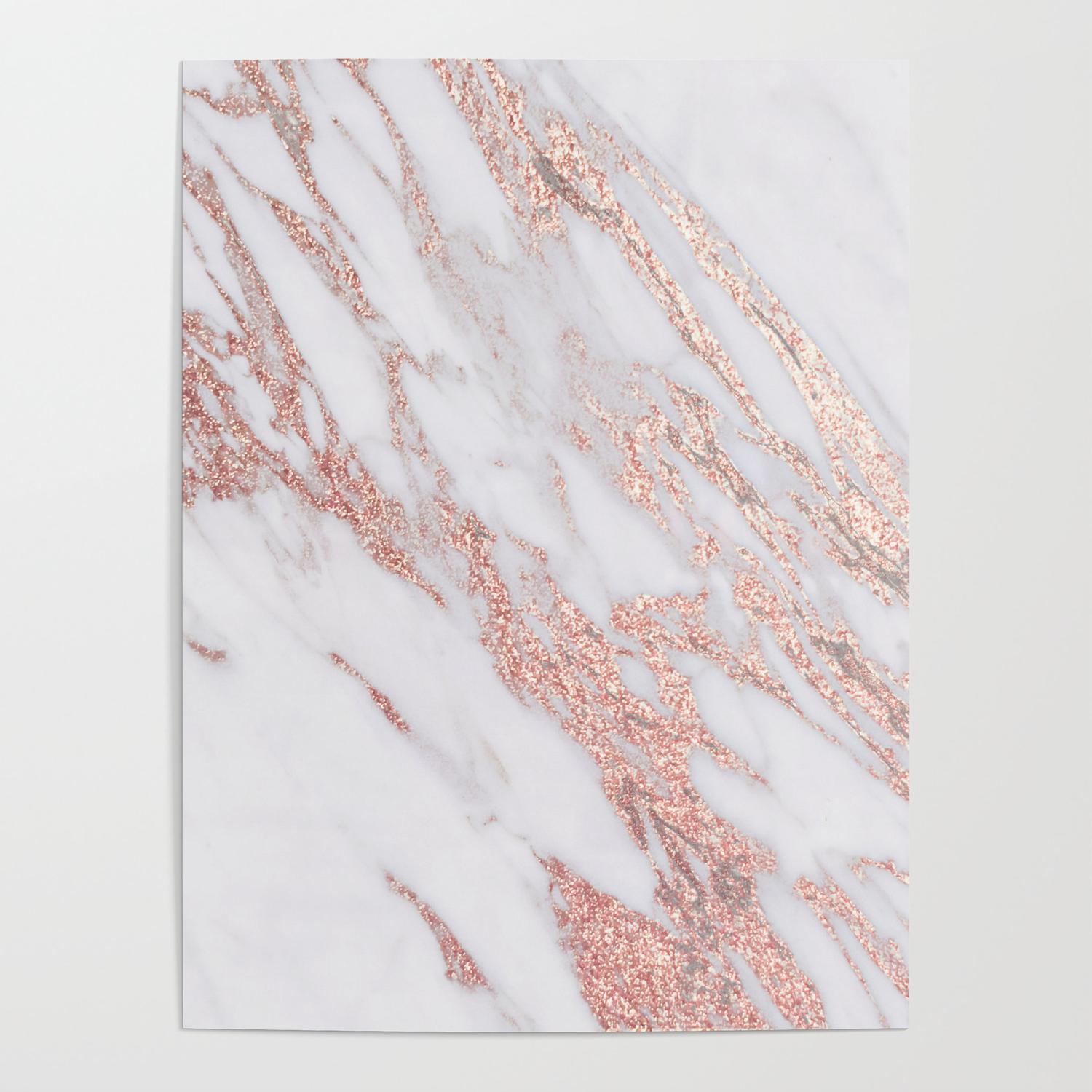 Blush Pink Rose Gold Marble Poster By Roseaesthetic Society6