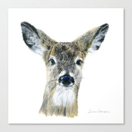 Doe Eyes by Teresa Thompson Canvas Print