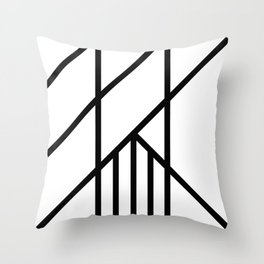 Bold Deco Throw Pillow
