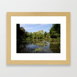 Monets Waterlily Pond Framed Art Print