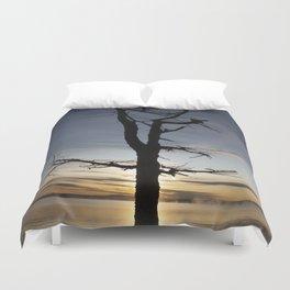 Shadow tree at dawn - Khövsgöl Mongolia Duvet Cover